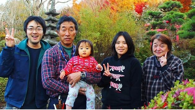 阿部家の家族写真